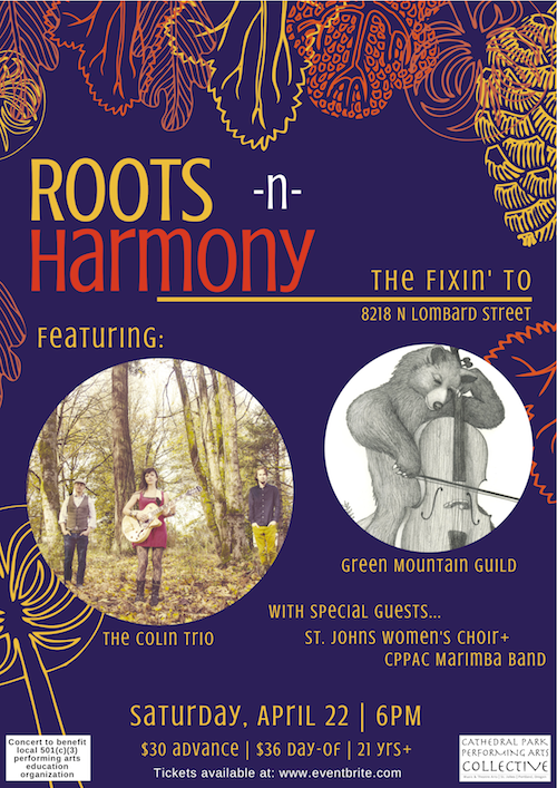 Roots-n-Harmony Benefit Concert   April 22