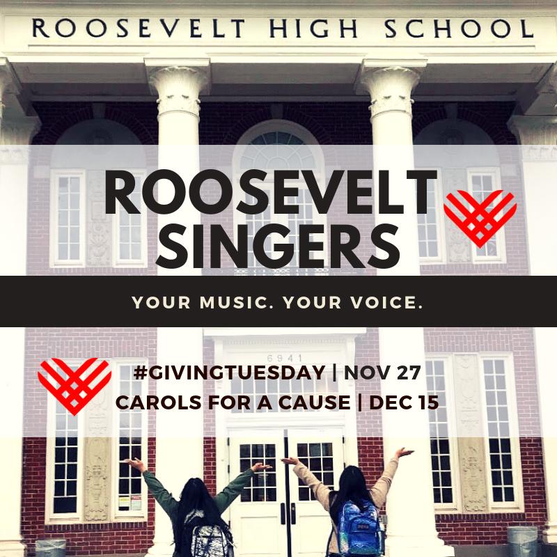 Fundraiser for Roosevelt Singers | November 27-December 31