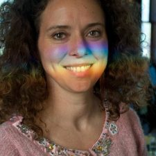 rainbow on my face cropped