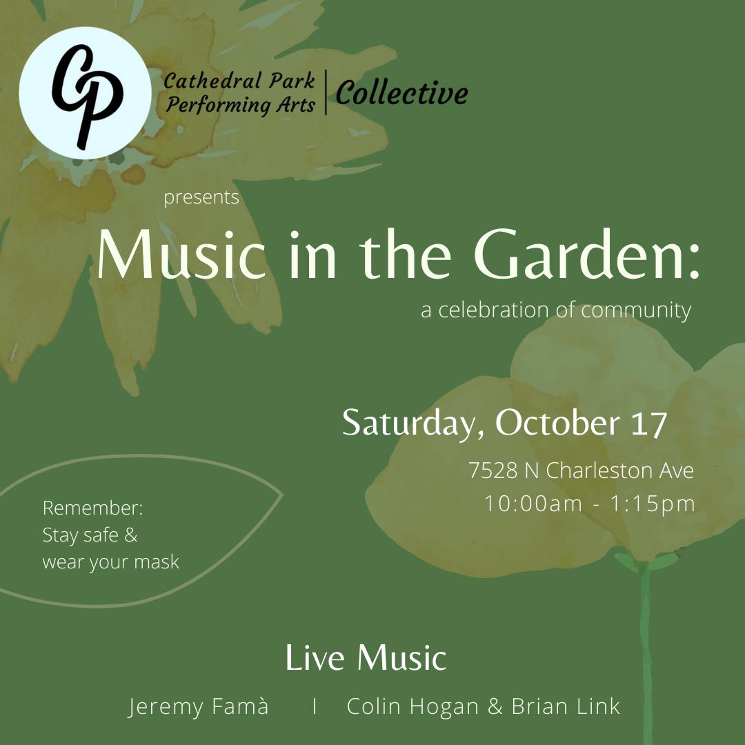 Music in the Garden   October 17