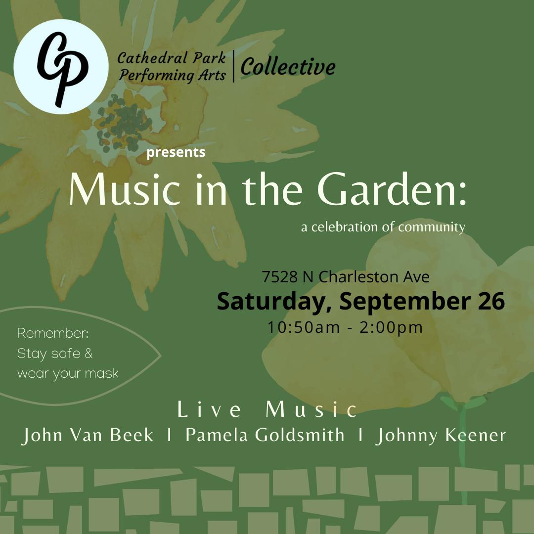 Music in the Garden   September 26